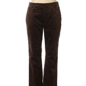 Moda International Brown Velour Pants Size 16